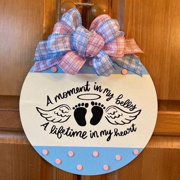 Hand Crafted Round Wooden Sign